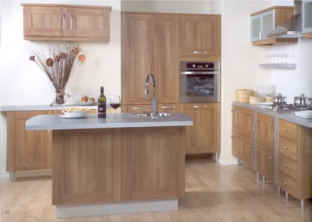 The Arcadia Walnut kitchen design is available from Gee's Kitchens, Bedrooms & Flooring of Kildare.