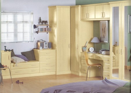 The Hapton Maple bedroom design is available from Gee's Kitchens, Bedrooms & Flooring of Kildare.